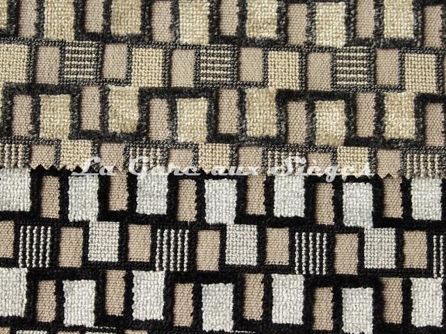 Tissu Casal - Sparte - réf: 12702 - Coloris: 77 Taupe & 62 Souris - Voir en grand