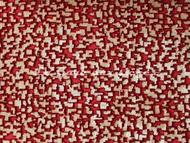 Tissu Nobilis - Velours Pixels - réf: 10563-50 - Coloris: Rouge opéra - Voir en grand