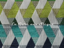 Tissu Casal - Kappa - réf: 16205 - Coloris: 30 Prairies & 10 Caraïbes - Voir en grand