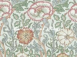 Tissu William Morris - Pink & Rose - réf: 222532 Eggshell/Rose - Voir en grand