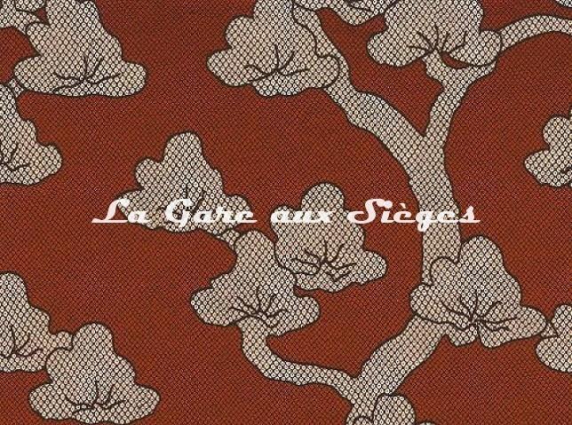 Tissu Misia - L'arbre des songes - réf: M181703 Orange brûlée - Voir en grand
