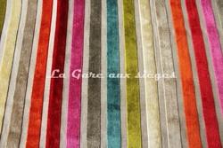 Tissu Deschemaker - Velours Yucatan - réf: 103757 - Coloris: Multicolore