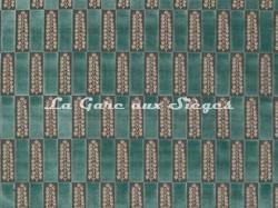 Tissu Osborne & Little - Arcadia - réf: F7043-03 Jade - Voir en grand