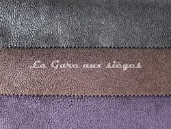 Tissu Métaphores - Shagreen - réf: 71161 - Coloris: 002 Noir - 005 Ebène - 016 Mûre - Voir en grand