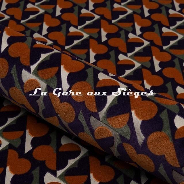 Tissu Nobilis - Velours Cerame - réf: 10751 - Coloris 55 - Voir en grand