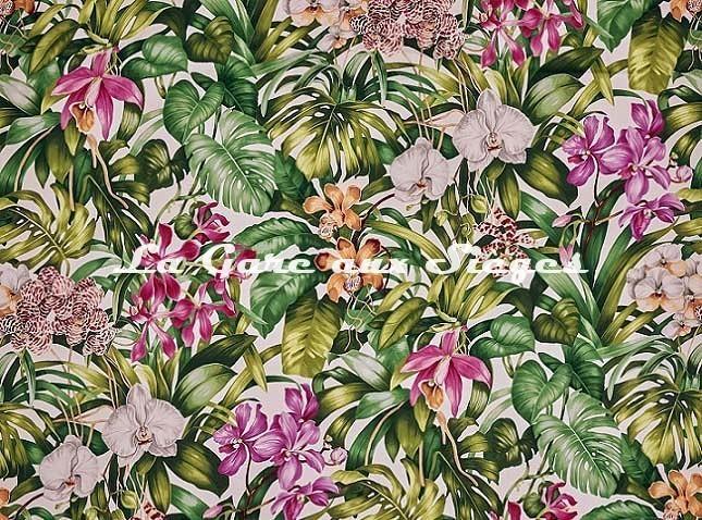 Tissu Pierre Frey - Jardin botanique - réf: F3389.001 Jour - Voir en grand