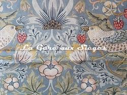 Tissu William Morris - Strawberry Thief - réf: 220314 Slate/Vellum ( détail ) - Voir en grand