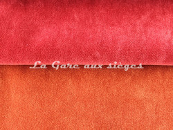 Tissu Chanée Ducrocq - Alaska CS - Coloris: 2564 Sanguine - 2565 Rouille - Voir en grand