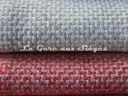 Tissu Osborne & Little - Ardee - réf: F6690 - Coloris: 08 Ivory/Stone & 09 Coral/Linen - Voir en grand