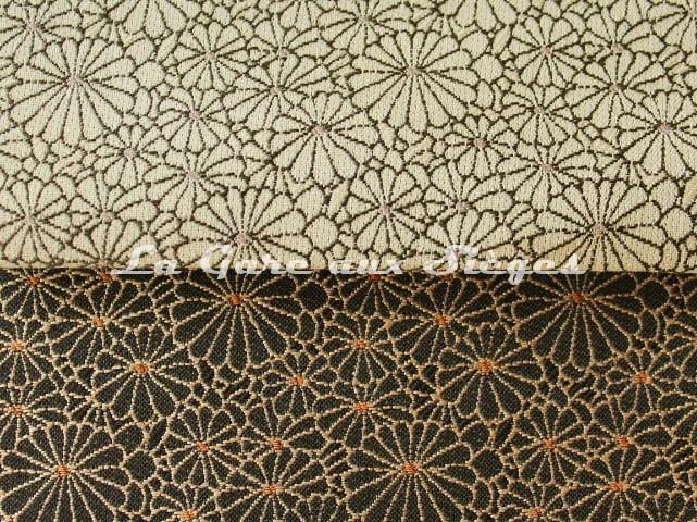 Tissu Jean Paul Gaultier - Obi - réf: 3467 - Coloris: 02 Naturel & 01 Noir - Voir en grand
