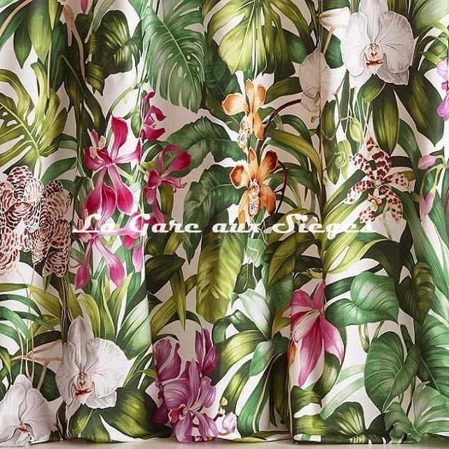 Tissu Pierre Frey - Jardin botanique - réf: F3389.001 - Voir en grand
