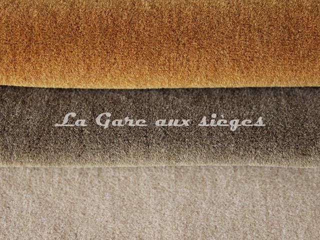 Tissu Chanée Ducrocq - Alpaga - Coloris: 2798 Cognac - 2805 Loutre - 2809 Dune - Voir en grand