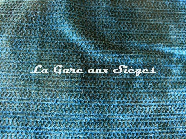 Tissu Misia - Anaconda - réf: M182803 Bleu Paon ( détail ) - Voir en grand