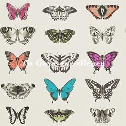 Papier peint Harlequin - Papilio - réf: 111079 Flamingo/Papaya/Olive - Voir en grand