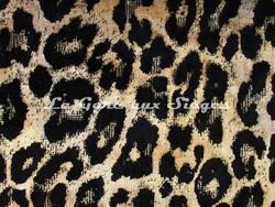 Tissu Osborne & Little - Pardus - réf: F6713-02 - Coloris: Sand/Black - Voir en grand