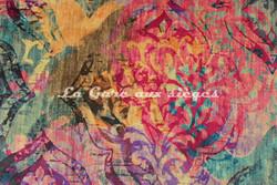 Tissu Deschemaker - Velours New Delhi - 3099 Multicolore - Voir en grand