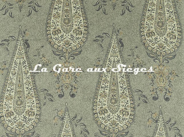Tissu Zoffany - Koyari Paisley - réf: 322704 Gargoyle/Linen - Voir en grand