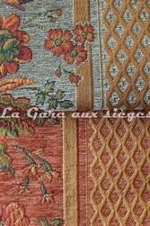 Tissu Amélie Prévot - Sourdeval - réf: 16123 - Coloris: 30 Vert & 20 Cuivre - Voir en grand