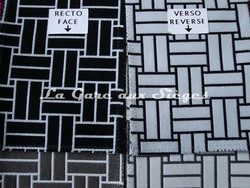 Tissu Lelièvre - Reverso - réf: 717 - Coloris: 01 Poivre & 02 Naturel - Voir en grand