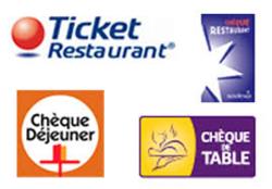 ticket restaurant  chèques vacance - Voir en grand