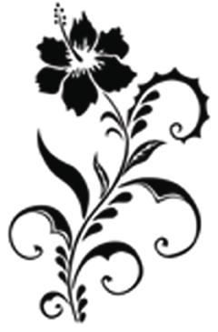 Modèle flash fleurs - TATOUAGES ÉPHÉMÈRES - TATTOO PICTURES - Voir en grand