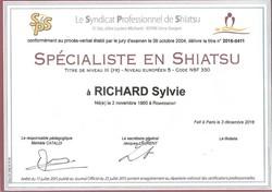 Titre Pro Spécialiste en Shiatsu - Santé & Bien Etre Brive - Sylvie Richard