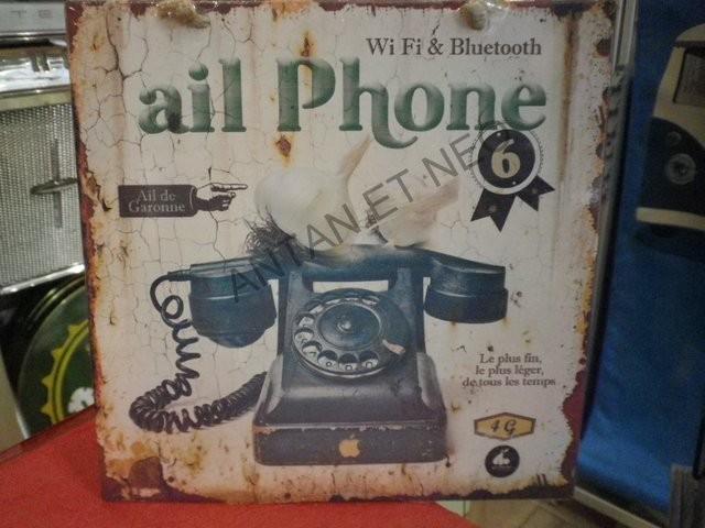 Plaque 20 X 20 Ail Phone - Antan et Néo.JPG - Voir en grand