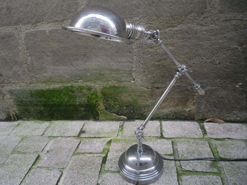Lampe de Table Industrielle Signature LAMPIND4 - Antan et Néo - Voir en grand