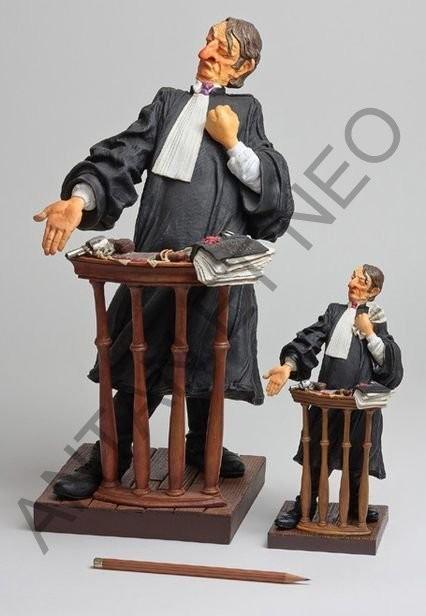L'avocat de Forchino - Figurine humoristique résine - Antan et Néo - Voir en grand