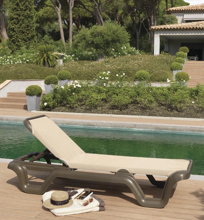 Bain de soleil Lola - Mobilier de jardin - BROCH HABITAT - Voir en grand