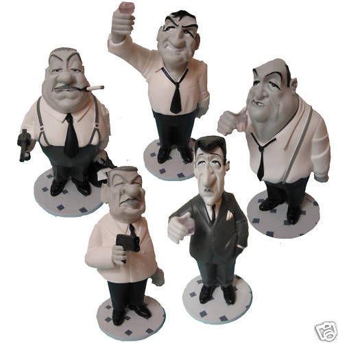Série complète des 5 figurines Tontons - Saint Emett - FIGURINE DE COLLECTION ET PIECES DE MUSEE - ANTAN ET NEO - Voir en grand