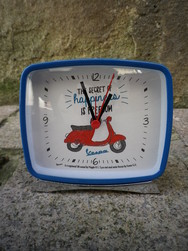 Réveil de table Vespa Bleu ou Blanc- Alarm Clock Blue or Whi - NOUVEAUTE - ANTAN ET NEO - Voir en grand