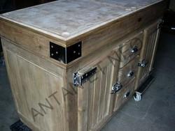De Kercoet Billot ILOT BIL08 de cuisine façon frigo de boucher - Antan et Néo - Brive la Gaillarde - Voir en grand