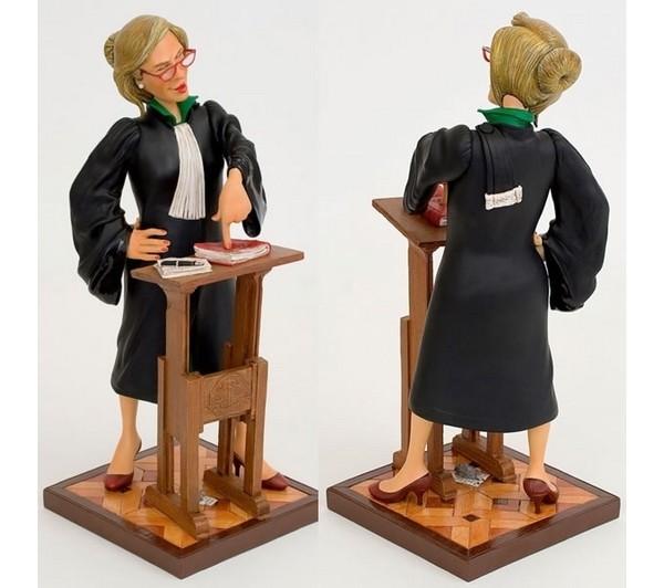 Figurine FORCHINO L'AVOCATE Petit modèle - FIGURINE ART COMIQUE FORCHINO PARASTONE - ANTAN ET NEO - Voir en grand
