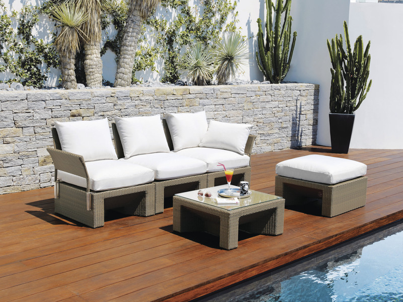 Ensemble Long Island - Mobilier de jardin - BROCH HABITAT - Voir en grand