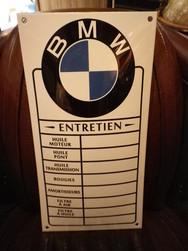 Plaque Email Automobile Moto BMW Entretien - Enamel TIN sign - ART PUBLICITAIRE Plaques émaillées - Toles - Objet - ANTAN ET NEO - Voir en grand