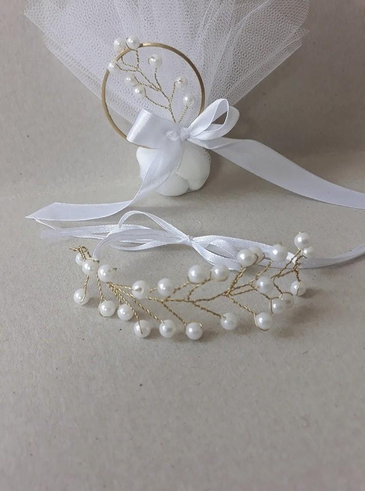 bracelet mariage avec perles - Voir en grand