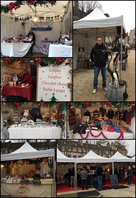 les stands du marché de Noël de l'union du commerce beaunois - Voir en grand