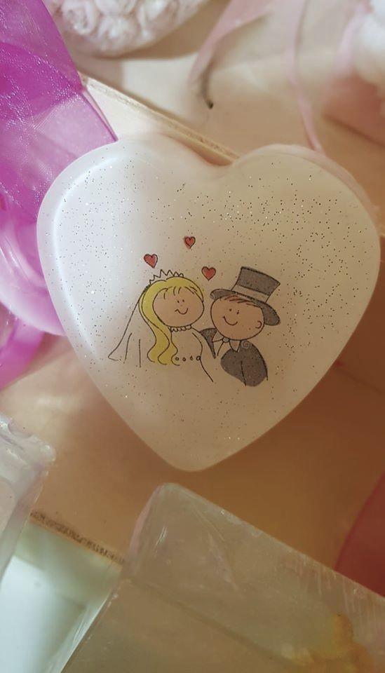 Savon 'Couple'  - Savons pour Mariages - La Grèce Gourmande - Voir en grand