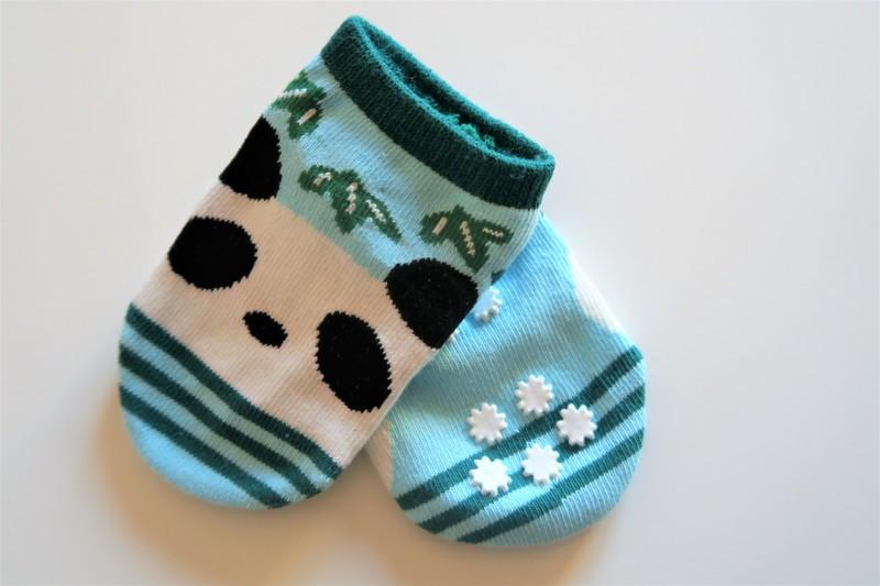 Chaussettes bébé antidérapant - Voir en grand