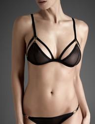 Atelier Amour soutien-gorge noir voile nylon transparent sexy séduction - Voir en grand