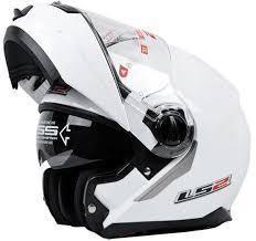 casque blanc LS2 ouvrable ANGEL'S MOTOS DIJON - Voir en grand