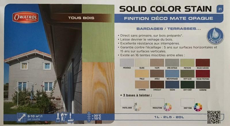 Owatrol DURIEU solid color stain catalogue - Voir en grand