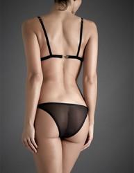 Atelier Amour soutien-gorge noir voile nylon transparent sexy  - Voir en grand