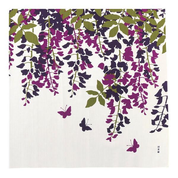 Furoshiki 90c papillons fleurs- Comptoir du Japon - Voir en grand