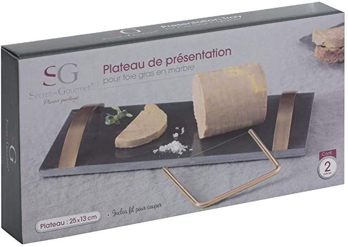 Secret de gourmet - Plateau de présentation pour Foie Gras  - Arts de la table - LEPY  - Voir en grand