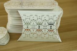 Boîte dragées Mariage 'Berlingot Argent et Blanc' - Boîtes à  Dragées - La Grèce Gourmande - Voir en grand