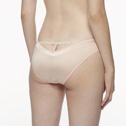 Chantal thomass troublante slip culotte beige boutons voile transparent