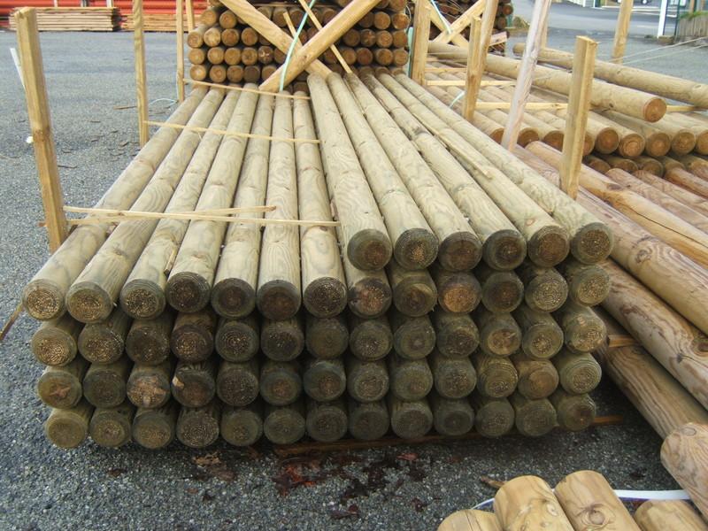 Rondins piquets en pin autoclave 4 tarif et prix b a bois for Maison en rondin de bois prix
