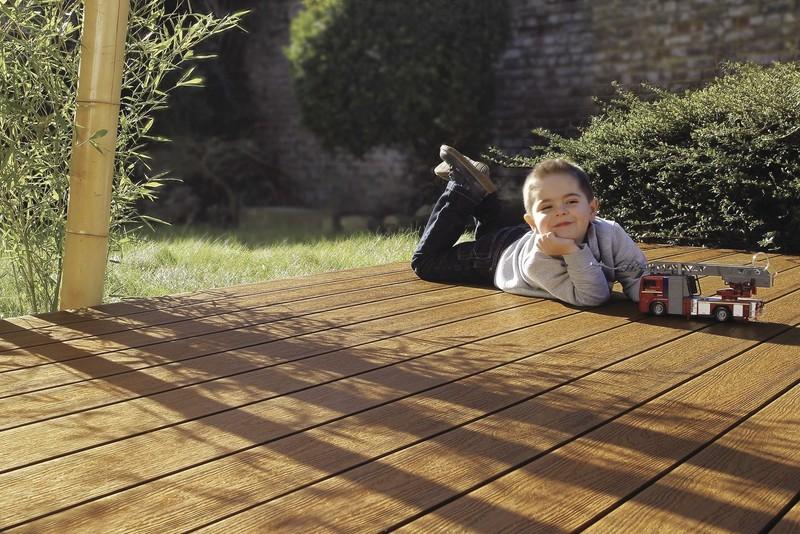 brooklyn teck coté texturé bois - Voir en grand